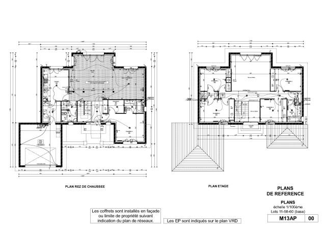 Architechniques christ le brier green lodge 78450 for Modele maison kaufman broad