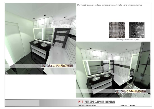 architechniques christ le brier am nagement salle de bain pr sentation des plans et vues en 3d. Black Bedroom Furniture Sets. Home Design Ideas
