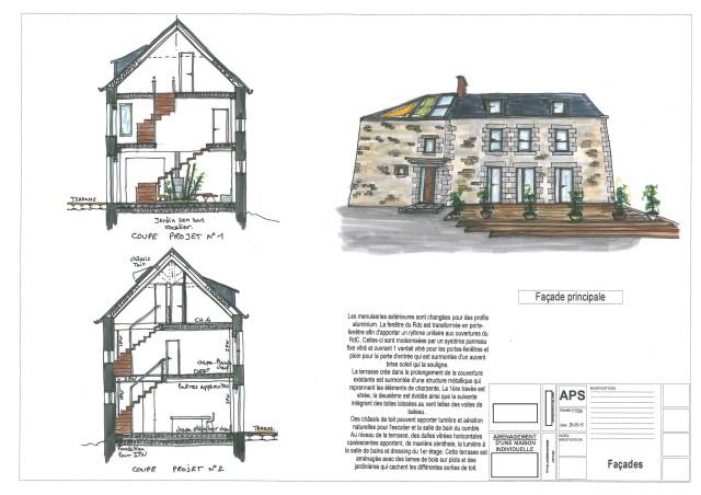Architechniques christ le brier r novation maison for Plan de maison ancienne
