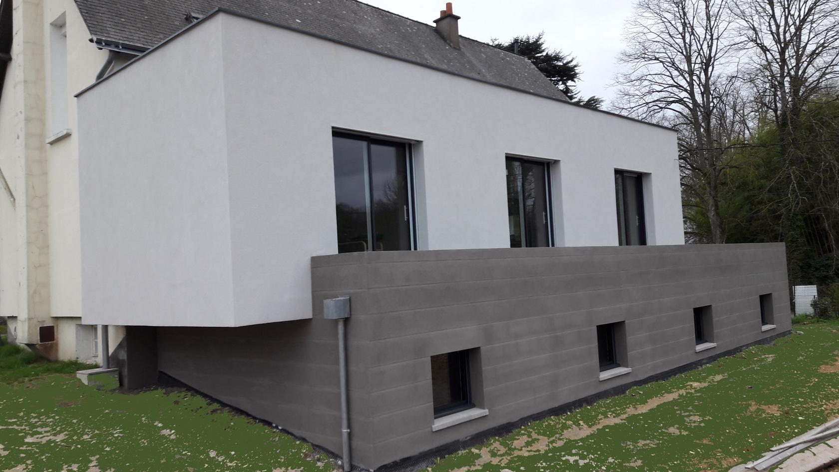 Architechniques Christele Brier Extension Avec Terrasse