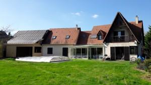 Extension ossature bois et enduit avec couverture tuiles plates et aménagement de comble (10) Architecte Tours 37