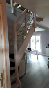 Veigné extension ossature bois aménagement intérieur et comble Architecte Tours 37